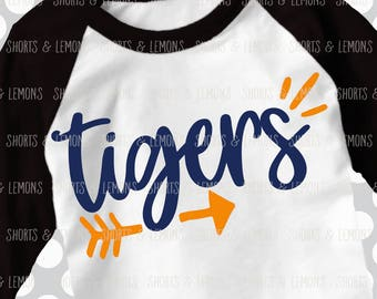Tigers svg, Arrow svg, Tigers, Cut File, iron on, football mom svg, Silhouette, Printable iron on, Digital Download, Cricut, dxf, clip art