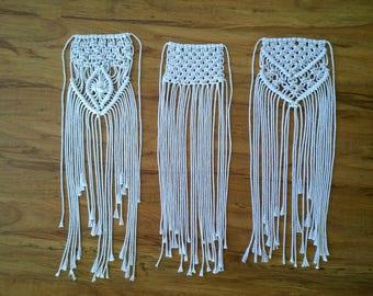macrame bridal bouquet wraps/ macrame wrap/ bridal wrap/ flower wrap/ bouquet wrap/ boho wedding decor/ wedding accessories/ boho wedding