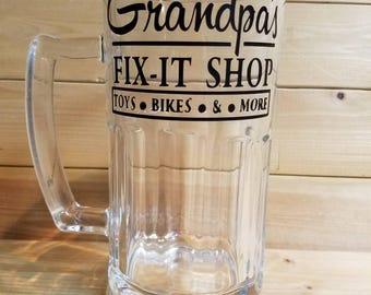 Grandpas Fix it Shop Beer Glass