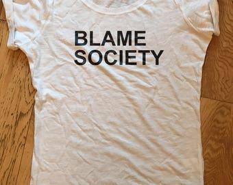 Blame Society Jay-Z inspired Organic T-shirt