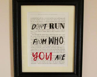 Book Print - Narnia | Don't Run From Who You Are