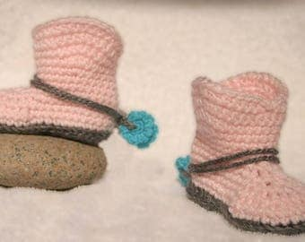Baby crocheted cowboy boots