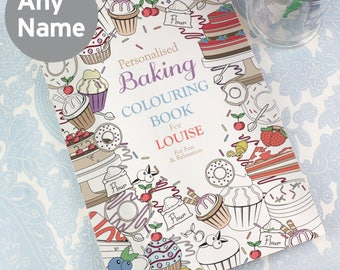 Personalised Baking Adult Colouring Book - A4 28 Pages Colour Therapy - Anti Stress