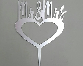 Cake topper - Mr & Mrs