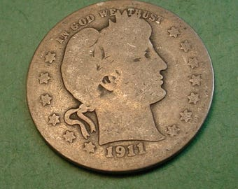 1911  Barber Quarter The Coin you see is the Coin You Get <> # ET1085