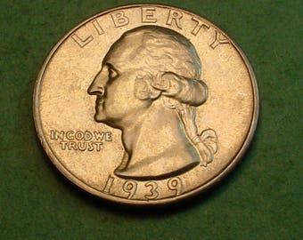 Washington Quarter 1939-D CH BU<> # ET3711