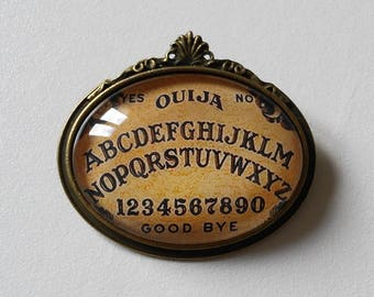 brooch cameo ouija board bronze gothic occult pagan esoteric spiritism witch wicca magic witchcraft witchy dark vintage