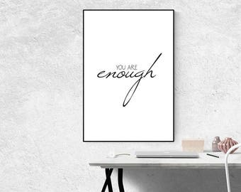 Typography Quote Print , Black and White Wall Art - Inspirational Print - Motivational Wall Art - Minimalist - Home Decor - Home Print