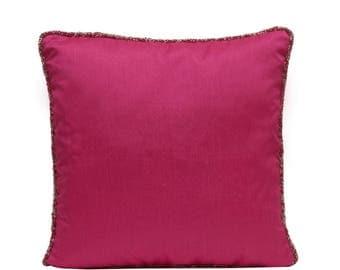 Fuchsia Pink Pillow Cover Fuchsia Pillow Pink Throw Pillow Pink Pillow Minimalist Pillow Modern Home Decor Pink Lumbar Pillow Pink Euro Sham