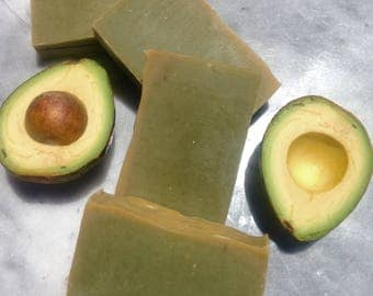 Unscented Avocado Soap, Natural Soap,