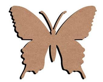 blank wooden Butterfly
