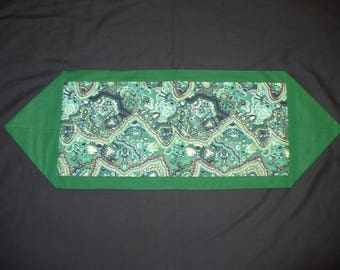 Whimsical Green Table Runner