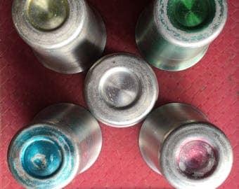A set of 5 Vintage Aluminum Cups