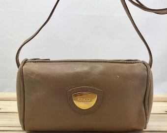 GUCCI Very Rare Beige / Tan Mini Crossbody Bag Leather