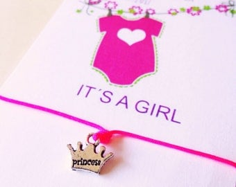 Baby Shower Party Favors • Baby Shower • Baby shower bracelets • Princess Crown Bracelet baby shower