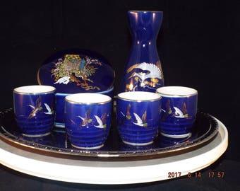 Vintage Sake set plus BONUS closely matching container