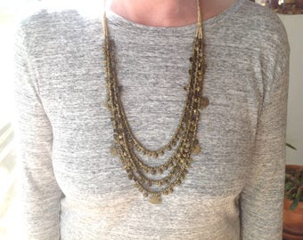India Kondh Brass Necklace from Orissa Made and Worn by Kondh Ethnic Group