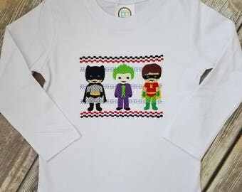 Faux Smocked Superhero Shirt
