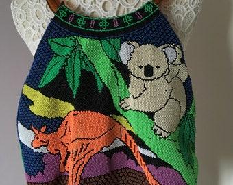 Kitsch Beaded Hoop Handle Vintage Australia Bag