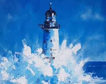 Lighthouse Original Painting Acrylic