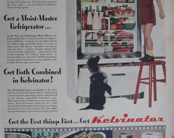 1940's- April, 1947- Life Magazine Kelvinator Refrigerator Advertisement – Vintage Kelvinator Ad- Vintage-Antique- Post WW II-Old Ad