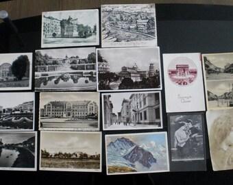 LOT 15 antique postcards