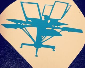 Screen Printing Vinyl Decal