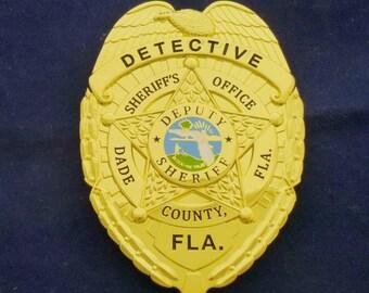 Miami Dade Detective Badge - Miami Vice