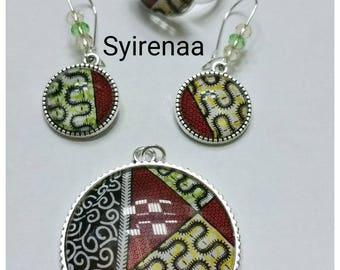 Set earrings, pendant, ring wax