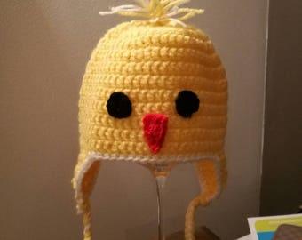 Chick wool hat handmade