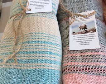 Handwoven 100% Turkish cotton towels