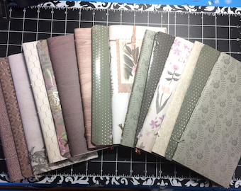 "2x Travelers Notebook Midori Standard TN Inserts - ""Botanicals"" - 2 Blank Notebooks + 1 Folder + 1 Elastic Expansion Band"
