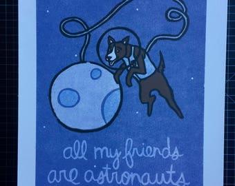 Space Dog Print