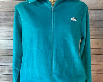 Vintage Haymaker Lacoste Hooded Zip Up Sweatshirt (L)