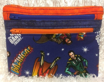 Geek Nerd Big Bang Theory Three Zipper Bag