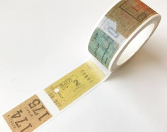 Vintage Ticket Washi Tape