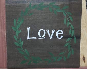 Love with Wreath