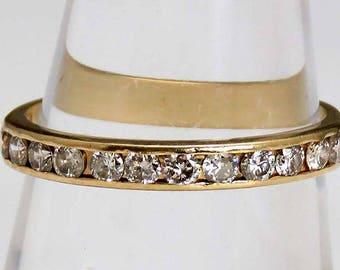 Elegant 14k Gold .50ct Diamond Anniversary Band Ring sz 6.75