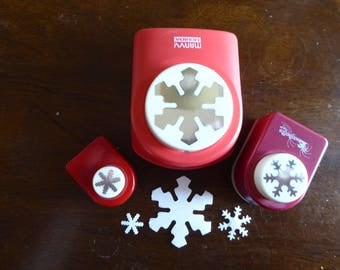 Snowflake Paper Punches - Set of 3 Designs (Used)