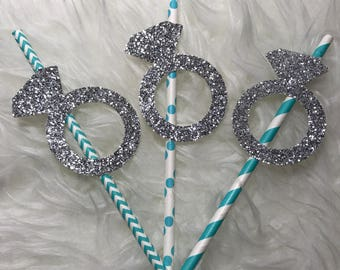 Tiffany & Co. Engagement Paper Straws- 6 ct.