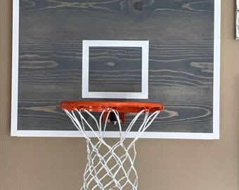 Basketball Hoop - Basketball Hoop for Wall - Basketball Hoop and Backboard - Basketball Hoop Decor - Basketball Goal - Basketball - Sports