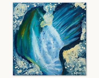 Origineel abstract olieverf schilderij op canvas, 50 x 50 cm