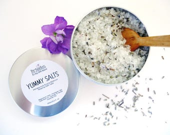 Lavender epsom salt bath Sea salt soak Relaxing bath salts Calming gifts for pregnant sister Sleep aids Aromatherapy bath salts, Stress less