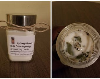 New Beginnings Reiki Charged Candle