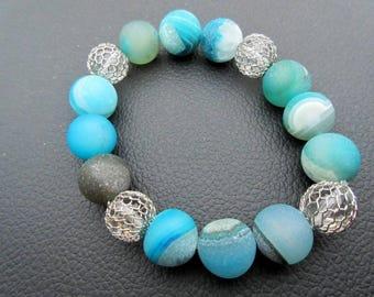 Surf Jewelry, Ocean Jewelry, Stone Bead Bracelet, Beach Bracelet, Nautical Jewelry, Boho Bracelet, Healing Bracelet, Yoga Bracelet, Chic