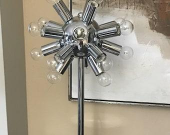 PANTON ERA style Chrome Sputnik table lamp , upgraded to LED tech. Mid century modern Eames Era