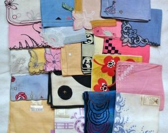 Vintage Finest Irish Linen Handkerchiefs, Hand Rolled, Hand Embroidered