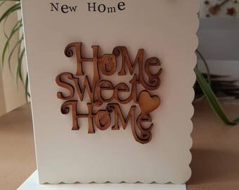 New home card, handmade, Beautiful new home card, new house card, simplistic cards, shabby chic cards, wooden Home Sweet home, bronze key