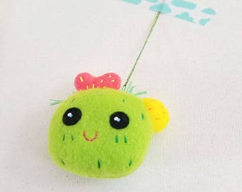 Baby Cactus Ornament or Keychain