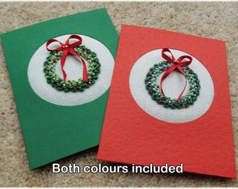 Christmas wreath two card kit